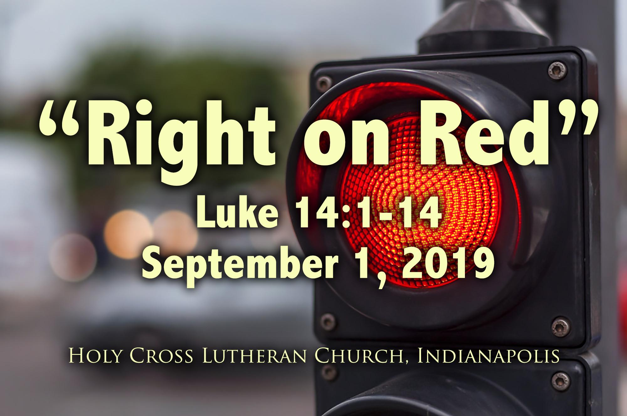 Right on Red – September 1, 2019